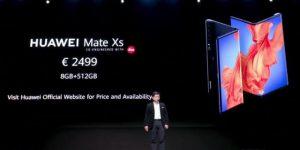 华为发布Mate Xs折叠屏手机,欧洲售价2499欧元