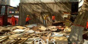 新城区胡家庙街道300平方米违建被强制拆除