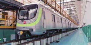 西安地铁5号线一期首批列车开始动车调试
