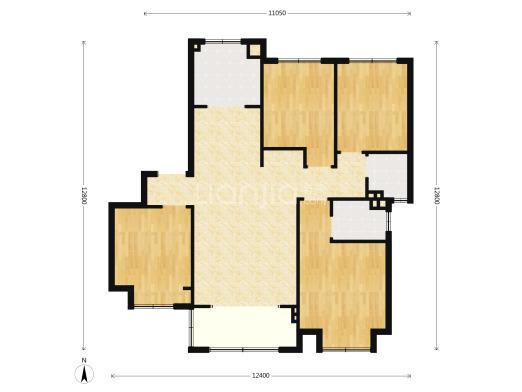 户型1.单套面积155㎡ 4室2厅2卫户型112套