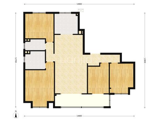 户型2.单套面积177㎡ 4室2厅2卫户型112套